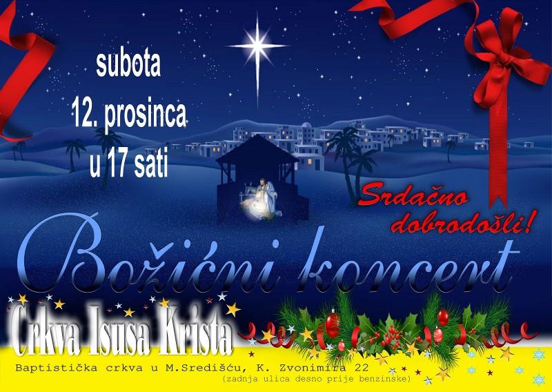 Bozicni koncert - subota, 12. prosinca